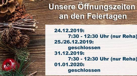 Feiertags-Öffnungszeiten